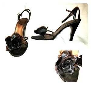 Impo Satin Shoe with rose detail